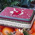 Altered Tin Box - christmas colours