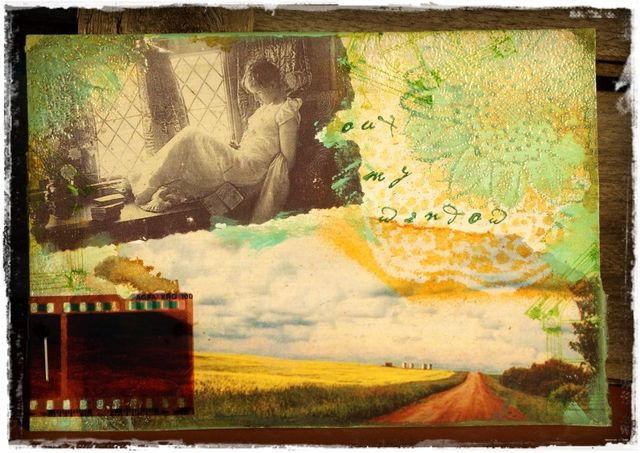 Circle Journal pages - Pam - out my window