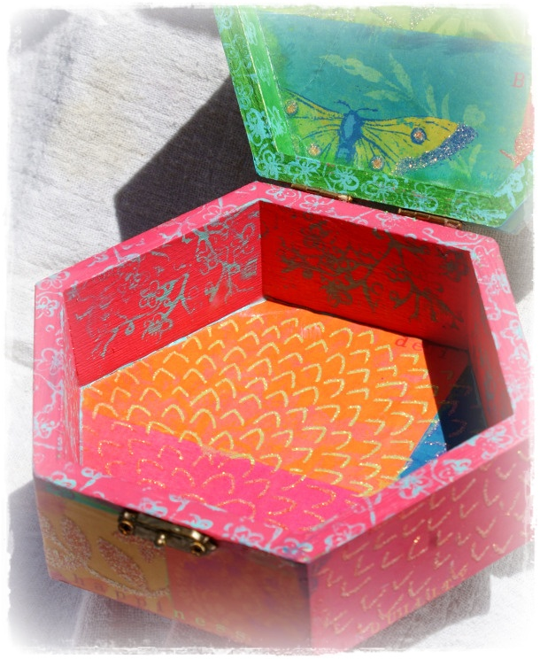 Altered wooden box - 3