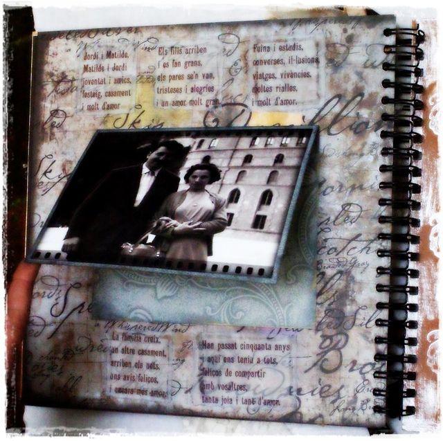 50th Wedding Anniversary Album - sample page 2