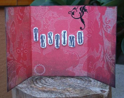 Garden Love tryptic card - inside