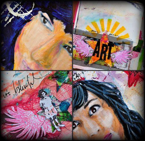 "Talleres de ""Scrapbooking, Art Journaling y Mixed Media"" con Dina Wakley: Julio, 2010"