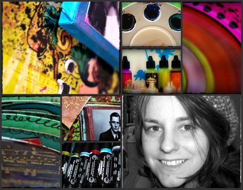 Talleres de Scrapbooking y Mixed Media con Nathalie Kalbach, Sep. 2009