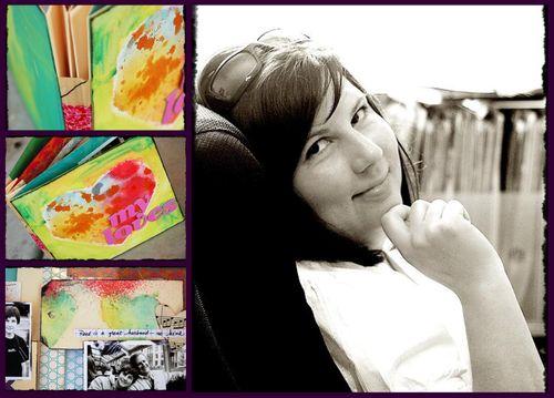 Talleres de Scrapbooking, Art Journaling y Mixed Media con Dina Wakley, Oct. 2009